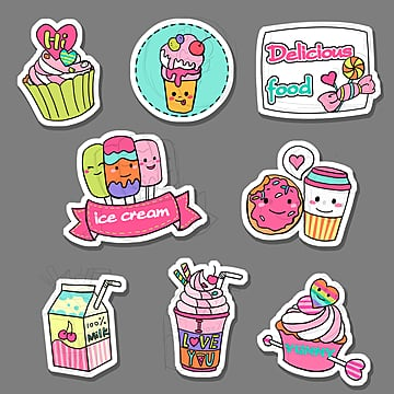 cute cartoon   candy stickers, , Cartoon, Lollipop PNG and PSD