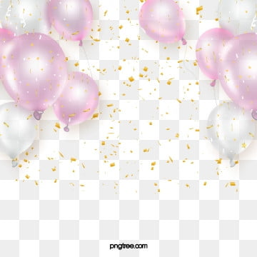 Delicate Pink Party Scrap Balloon, Element, Luxurious, Color Chip PNG and PSD