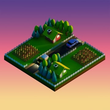 green earth concept in isometric view, Landscape, Nature, Isometric PNG and Vector