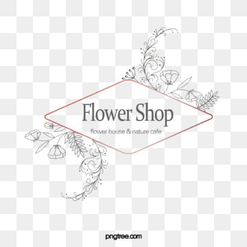 original rose gold geometric border handpainted flower shop logo, Element, Geometric, Copyrighted PNG and PSD