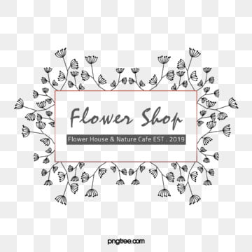 originally hand painted line dandelion florist logo, Element, Copyrighted, Hand Painted PNG and PSD