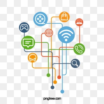 Internet Social Circle, Creative, Icon, Media PNG and PSD