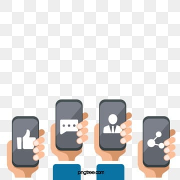 mobile social media, Creative, Icon, Media PNG and PSD