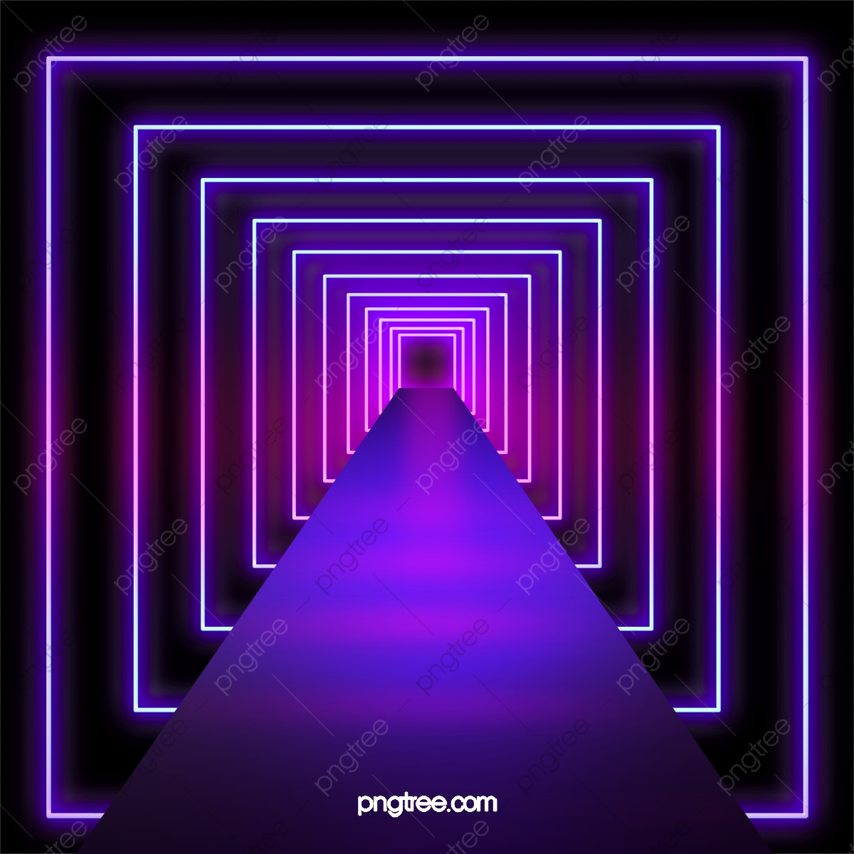 3d Neon Light Abstract Background, Background, Abstract