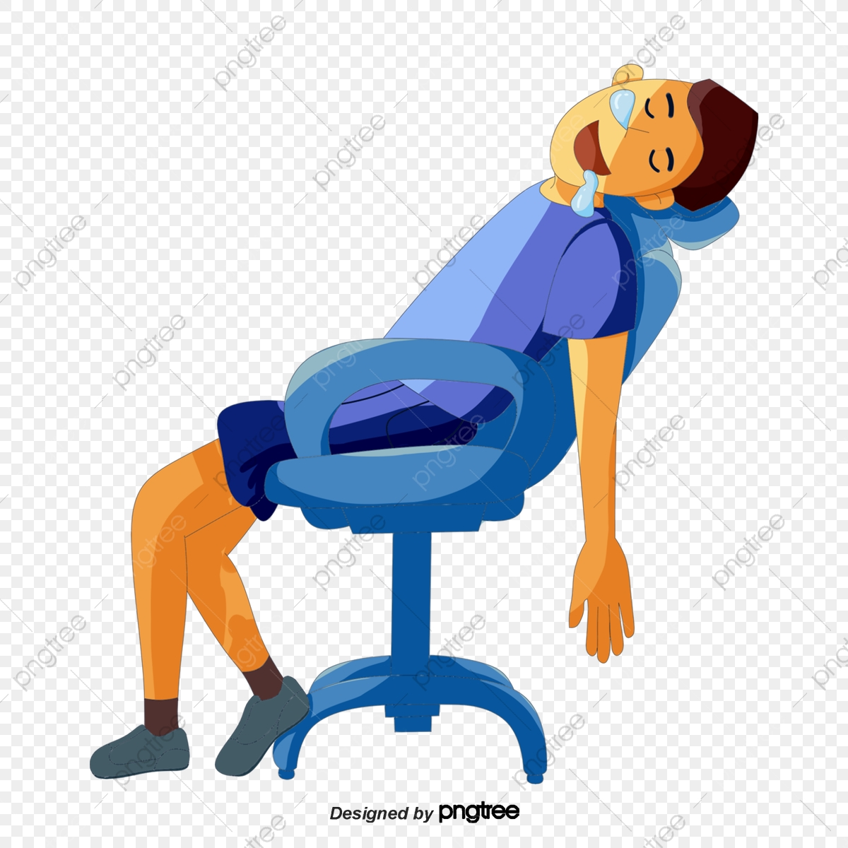 картинка спящий на стуле для нее