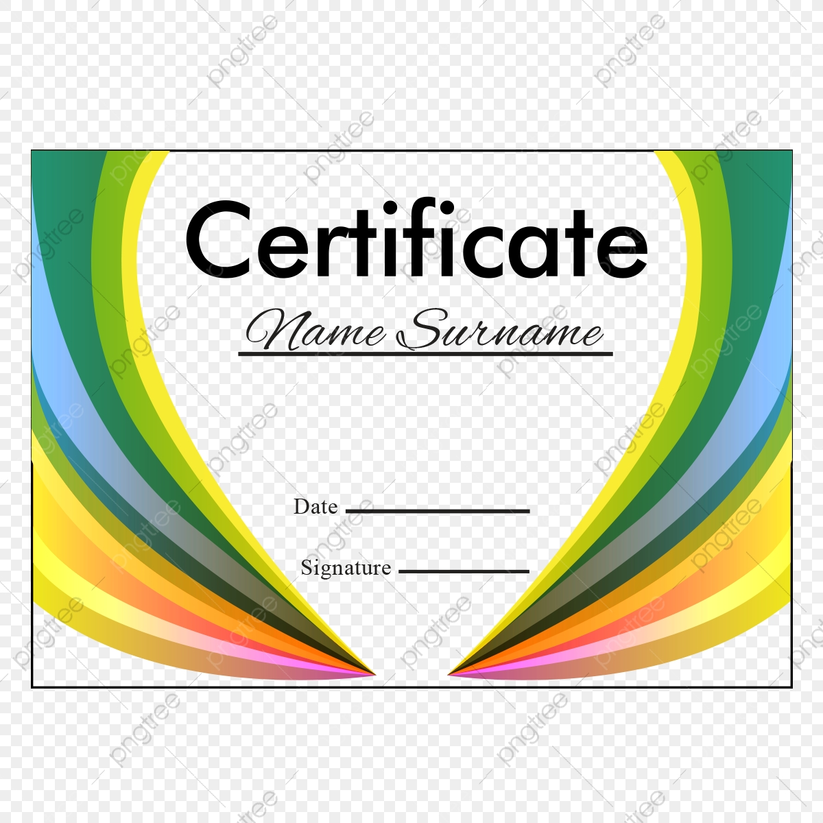 Abstract Certificate Layout Vector Certificate Template