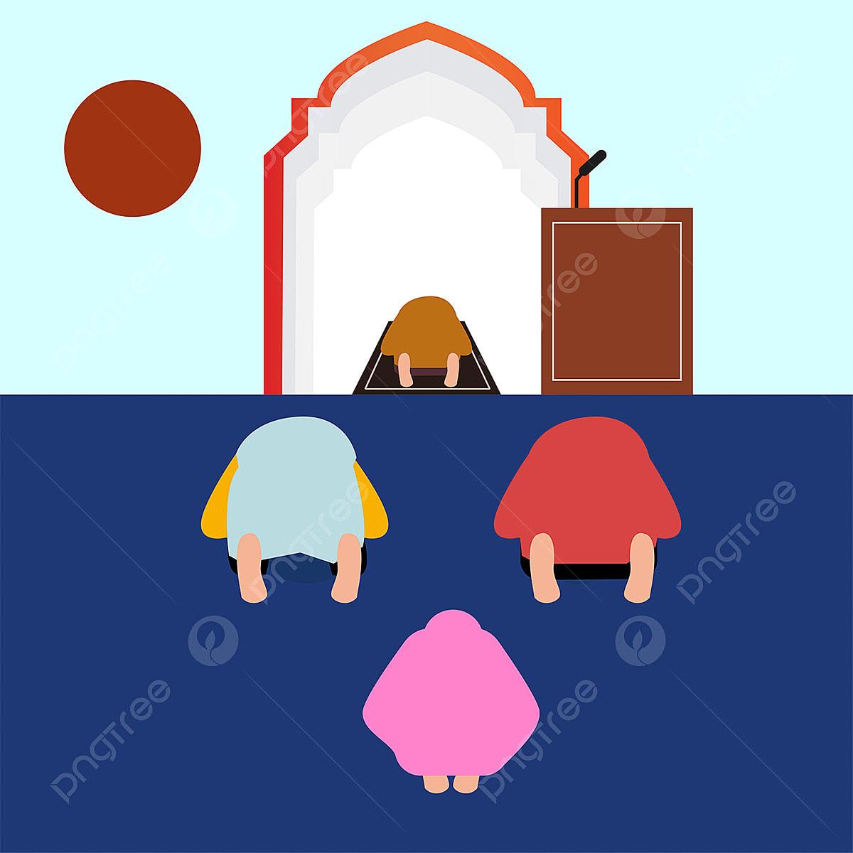 Semua Orang Muslim Berdoa Kepada Allah Kartun Watak Kanak