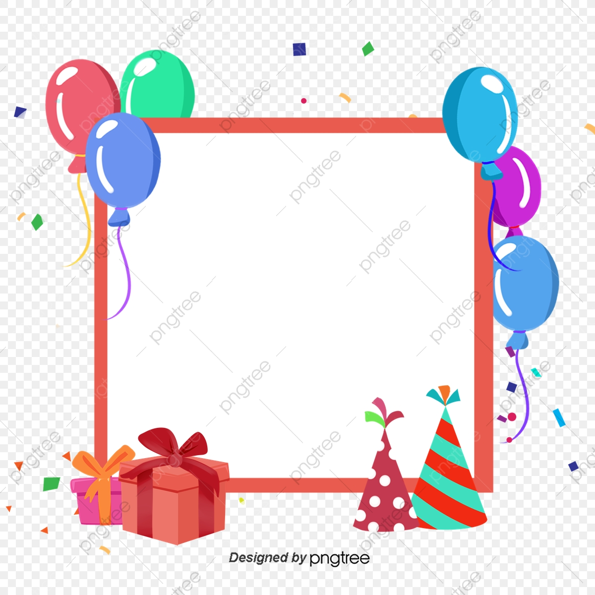 birthday card border  celebrating  color box  color border