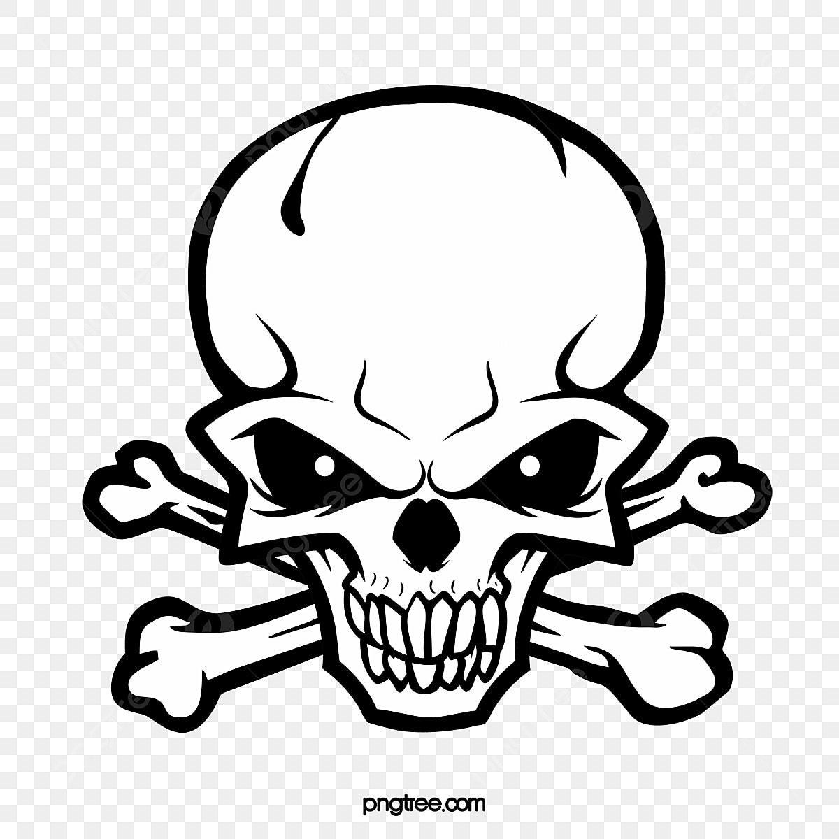 Die Schwarz Weiße Linien Totenkopf Logo Hand Monochrome