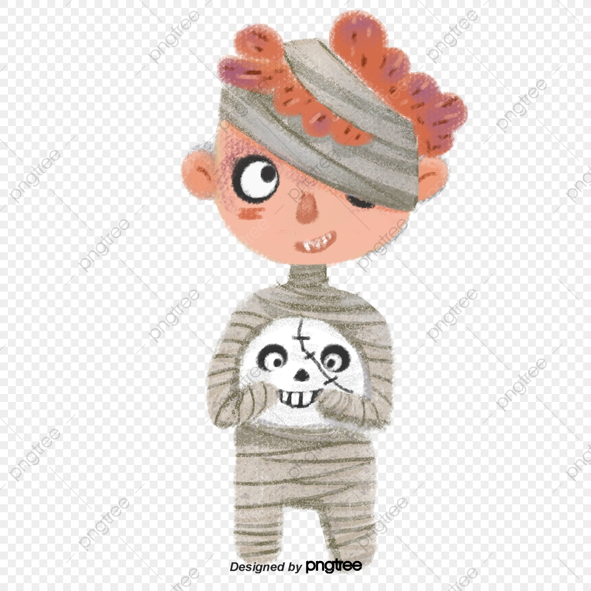 Boys With Bandages On Halloween Cartoons Halloween Cartoon Night Png Transparent Clipart Image And Psd File For Free Download