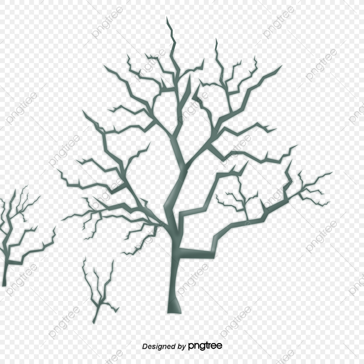 No Inverno As Arvores De Galhos Secos Elementos No Inverno