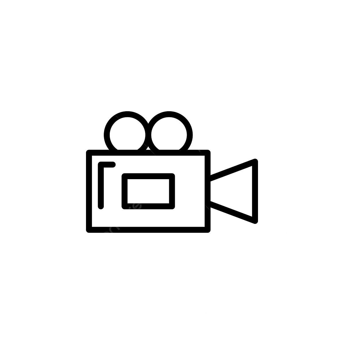 Camara De Cine De Ilustracion Vectorial En Icono De Estilo De