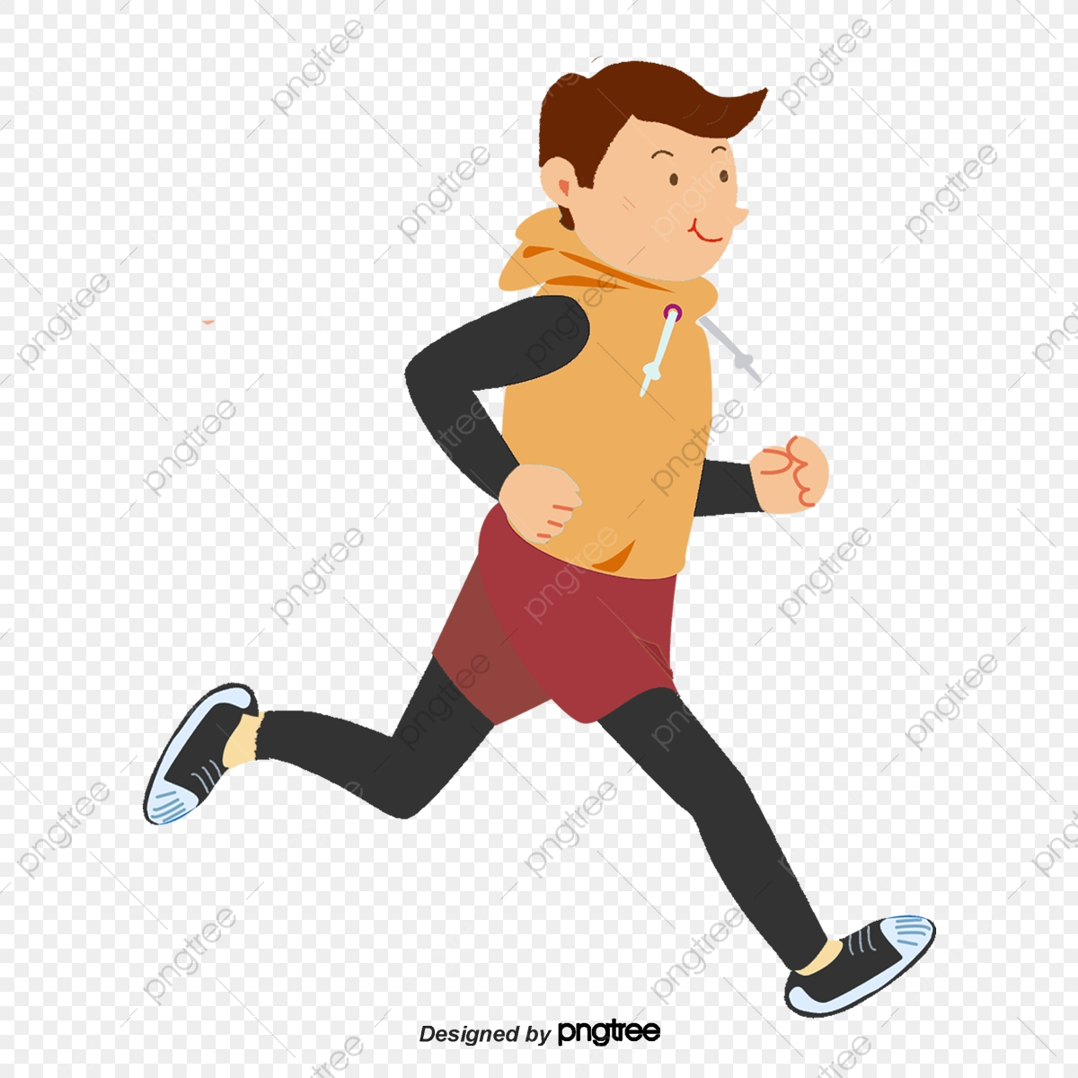 Cartoon Boys Running In The Morning, Character, Element, Cartoon PNG  Transparent Clipart Image and PSD File for Free Download