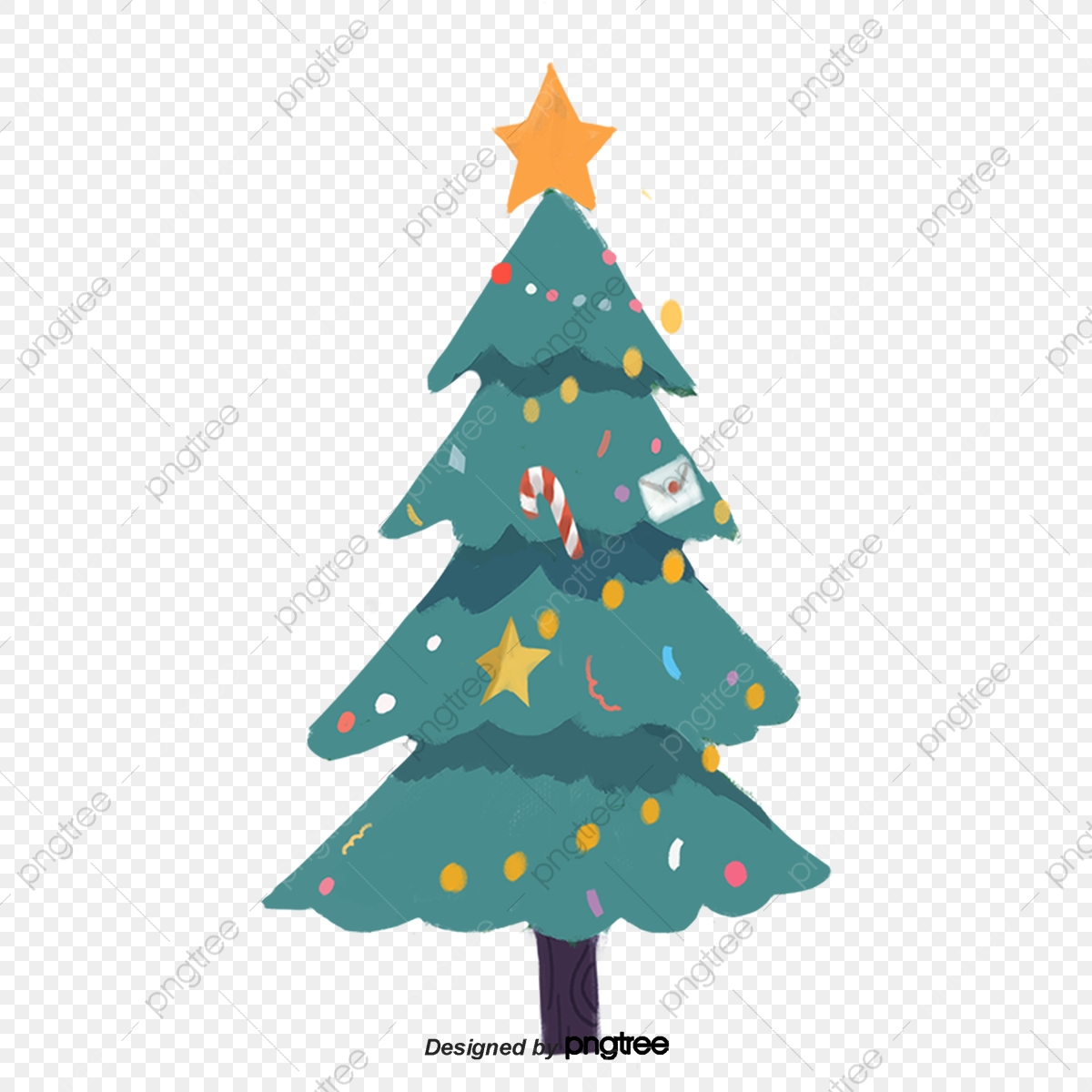 cartoon christmas tree decoration tree clipart cartoon christmas tree png transparent clipart image and psd file for free download https pngtree com freepng cartoon christmas tree decoration 4283458 html