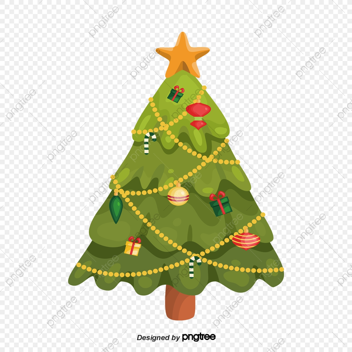 cartoon christmas tree cartoon christmas tree christmas png transparent clipart image and psd file for free download https pngtree com freepng cartoon christmas tree 4280390 html