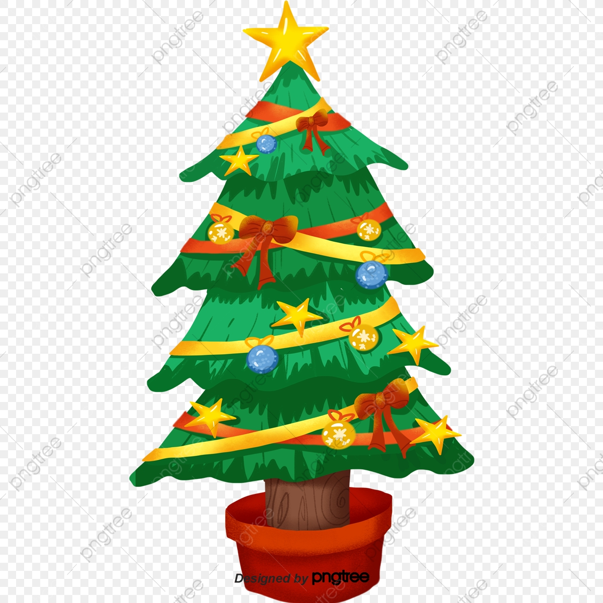Cartoon Christmas Tree Png Images Vector And Psd Files Free Download On Pngtree