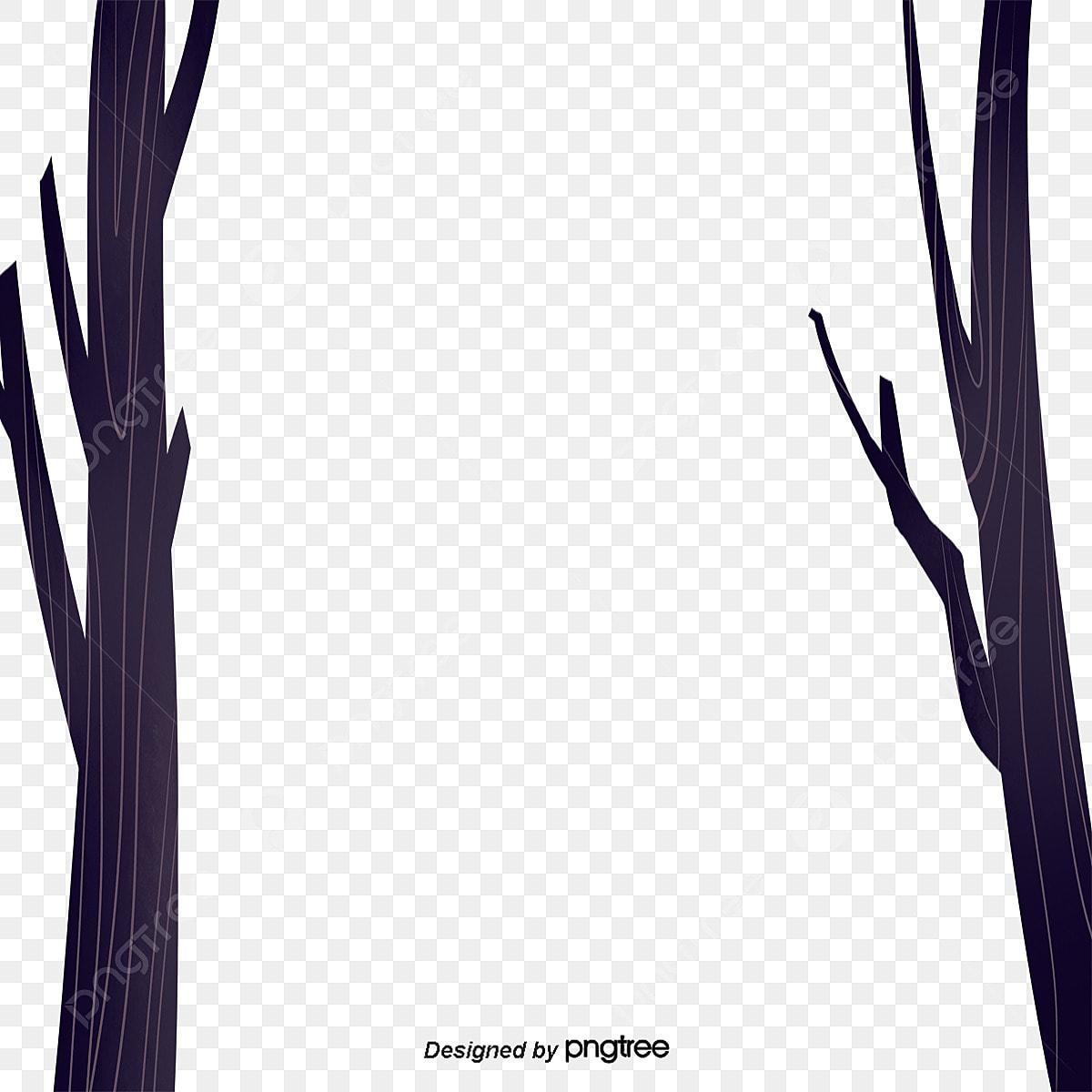 Desenhos De Galhos Secos De Arvores Elementos Cartoon Sere
