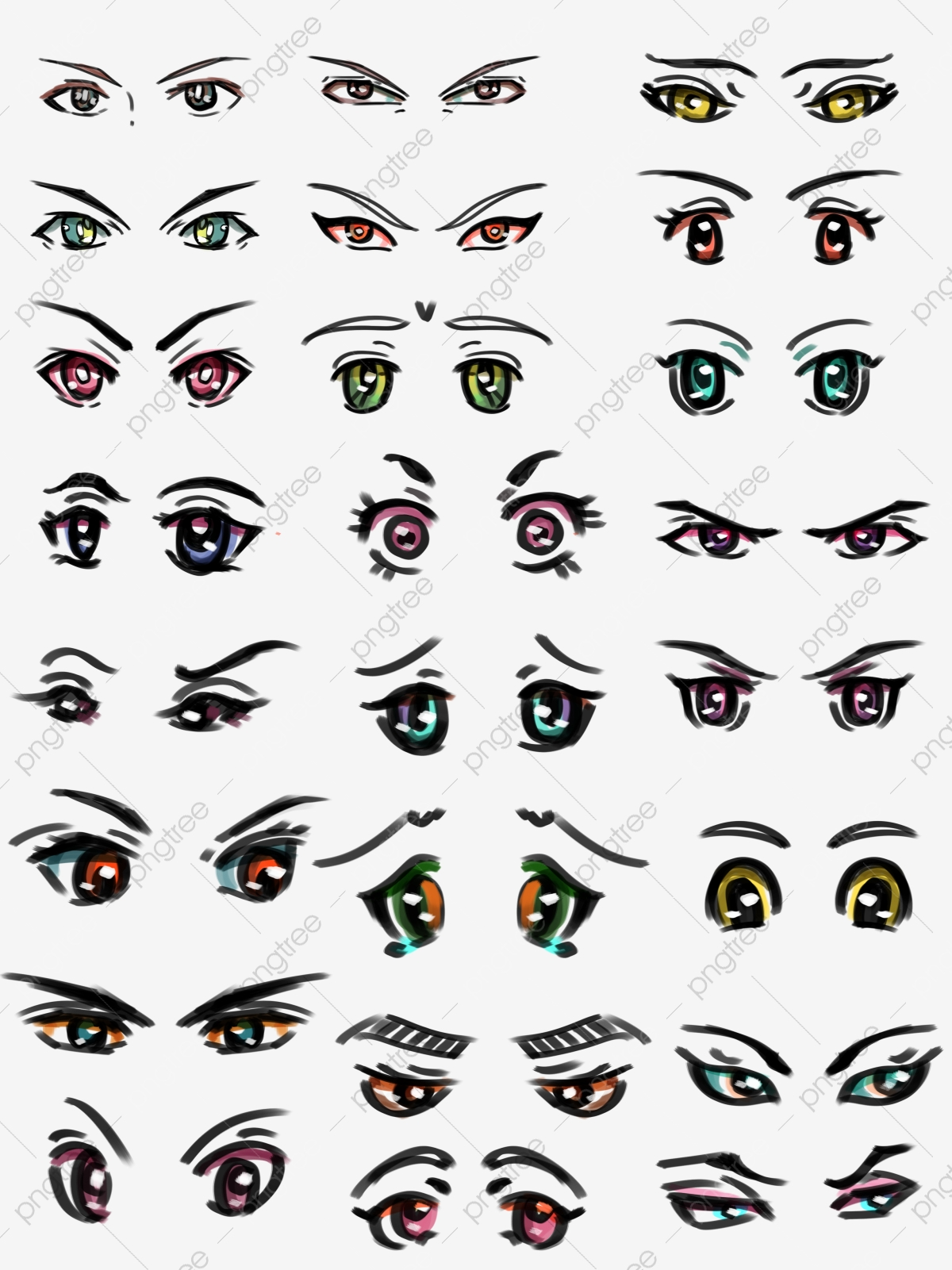 Cartoon Eyes Cartoon Eyes Vector Material Free Download