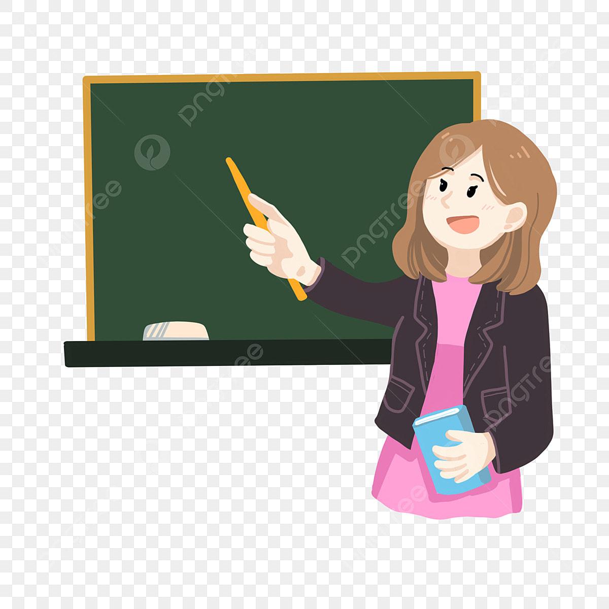 Gaya Kartun Di Kelas Guru Wanita Buku Kartun Wanita Fail