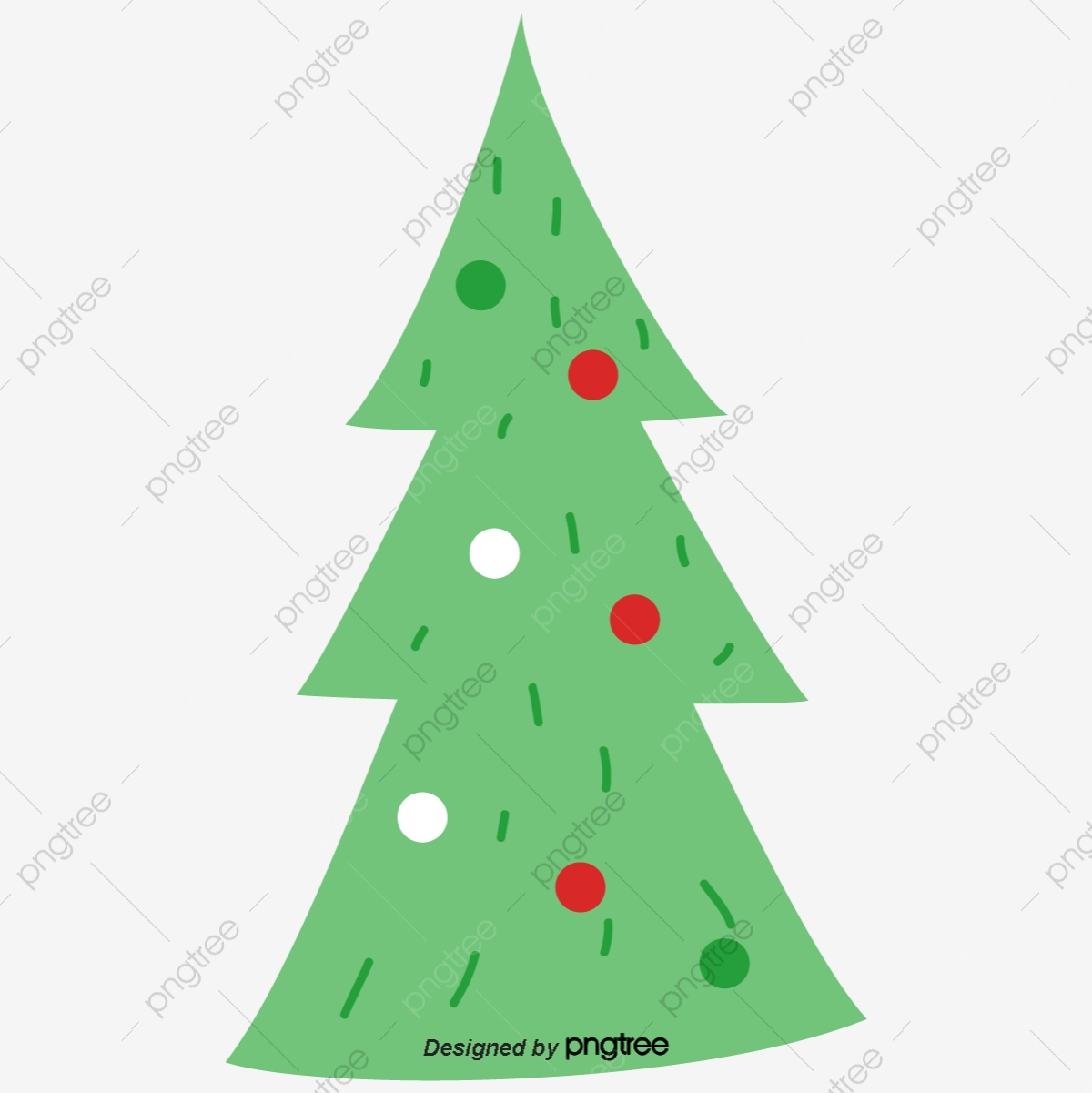 Cartoon Green Christmas Tree Christmas Tree Christmas Small Trees Png And Vector With Transparent Background For Free Download
