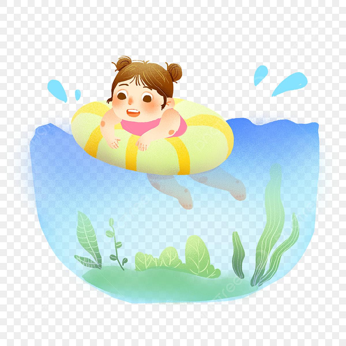 طفل السباحة الكرتون المواد الأطفال كرتون كرتون اطفال Png وملف Psd للتحميل مجانا