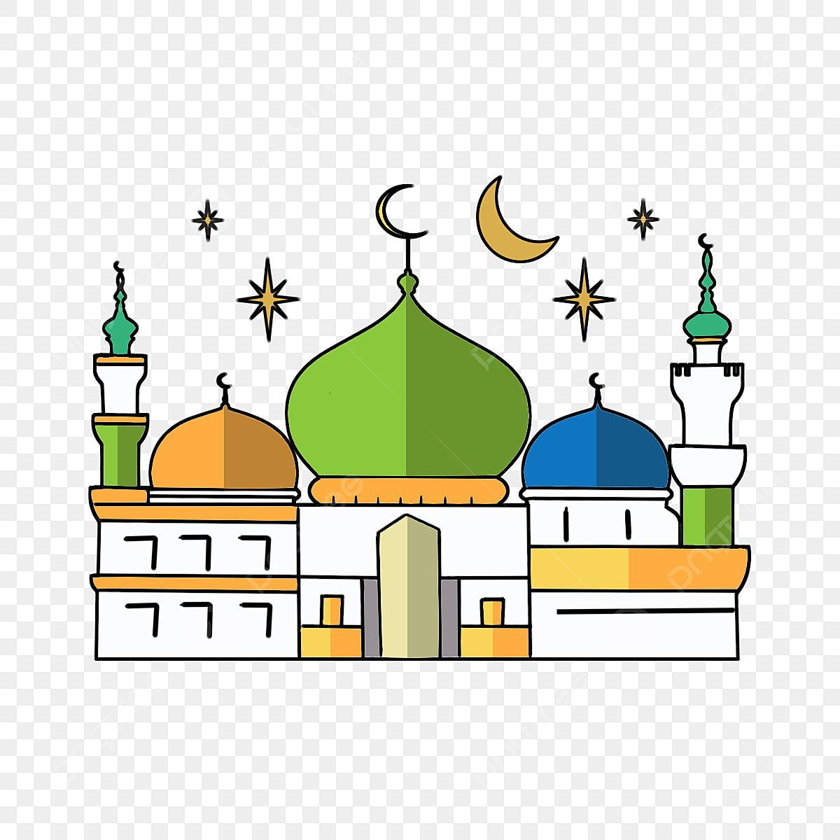 Cartoon Ramadan Mosque Elements Islam Islamic Cartoon PNG