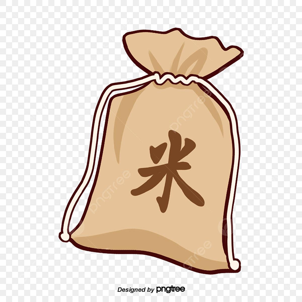 Cartoon Rice Bag Element Cartoon Scenes Png Transparent Clipart