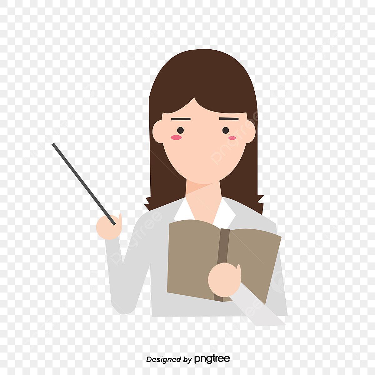 Gambar Kartun Mudah Comel Memegang Sebuah Buku Guru Wanita Kelas Watak Watak Guru Perempuan Png Dan Psd Untuk Muat Turun Percuma