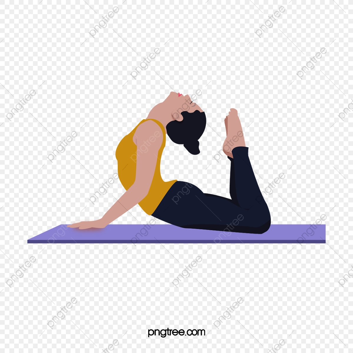 Cartoon Sports Characters Yoga Girls Yoga Day Character Cartoon Girl Png And Vector With Transparent Background For Free Download