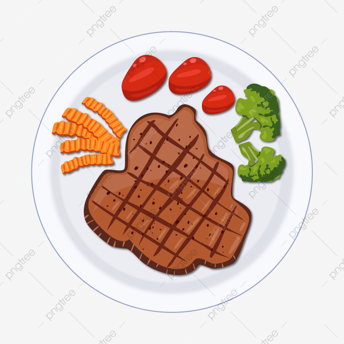 cartoon steak vector material ai element free vector material png and vector with transparent background for free download https pngtree com freepng cartoon steak vector material 4368990 html