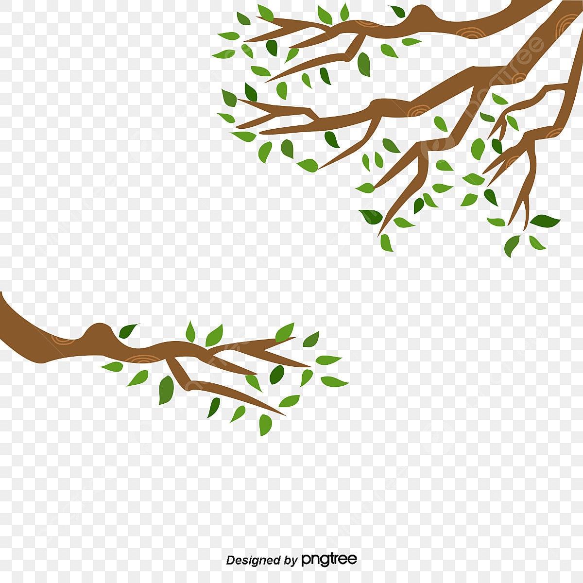 Leaf Twig U624bu6284u5831 Clip Art - Cartoon Tree Branch - Free Transparent  PNG Clipart Images Download