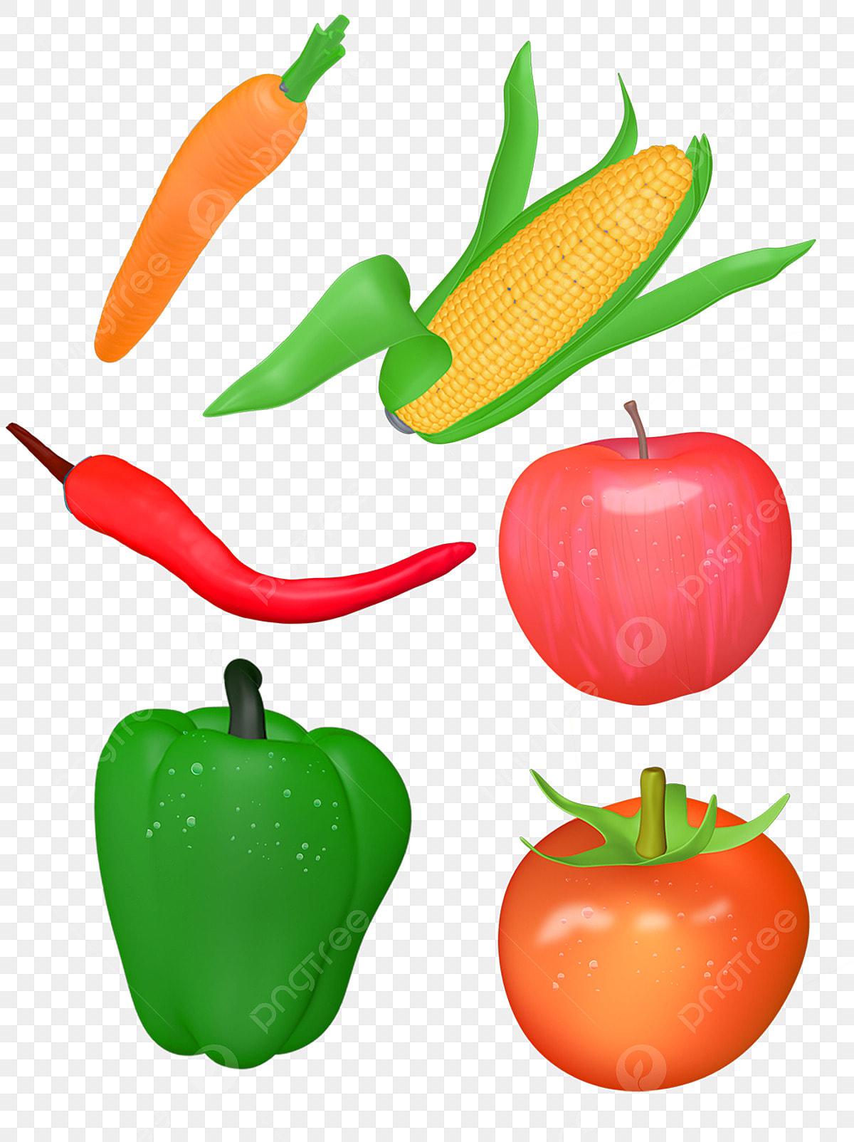 Sayuran Kartun Sayur Sayuran Lobak Jagung, Sayuran Kartun, Jagung