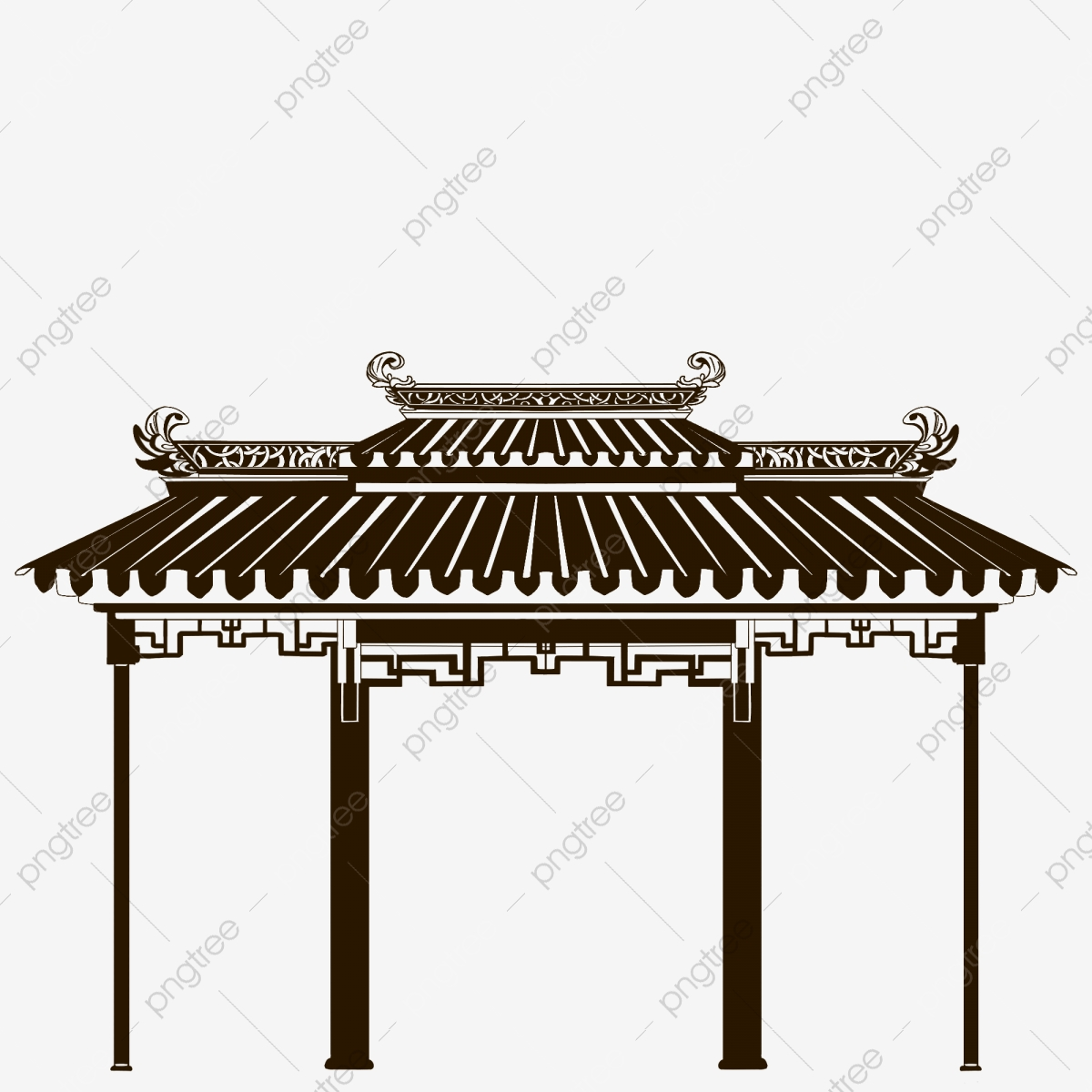 Chinese Pavilion Image Vector Graphics - Architecture Transparent PNG