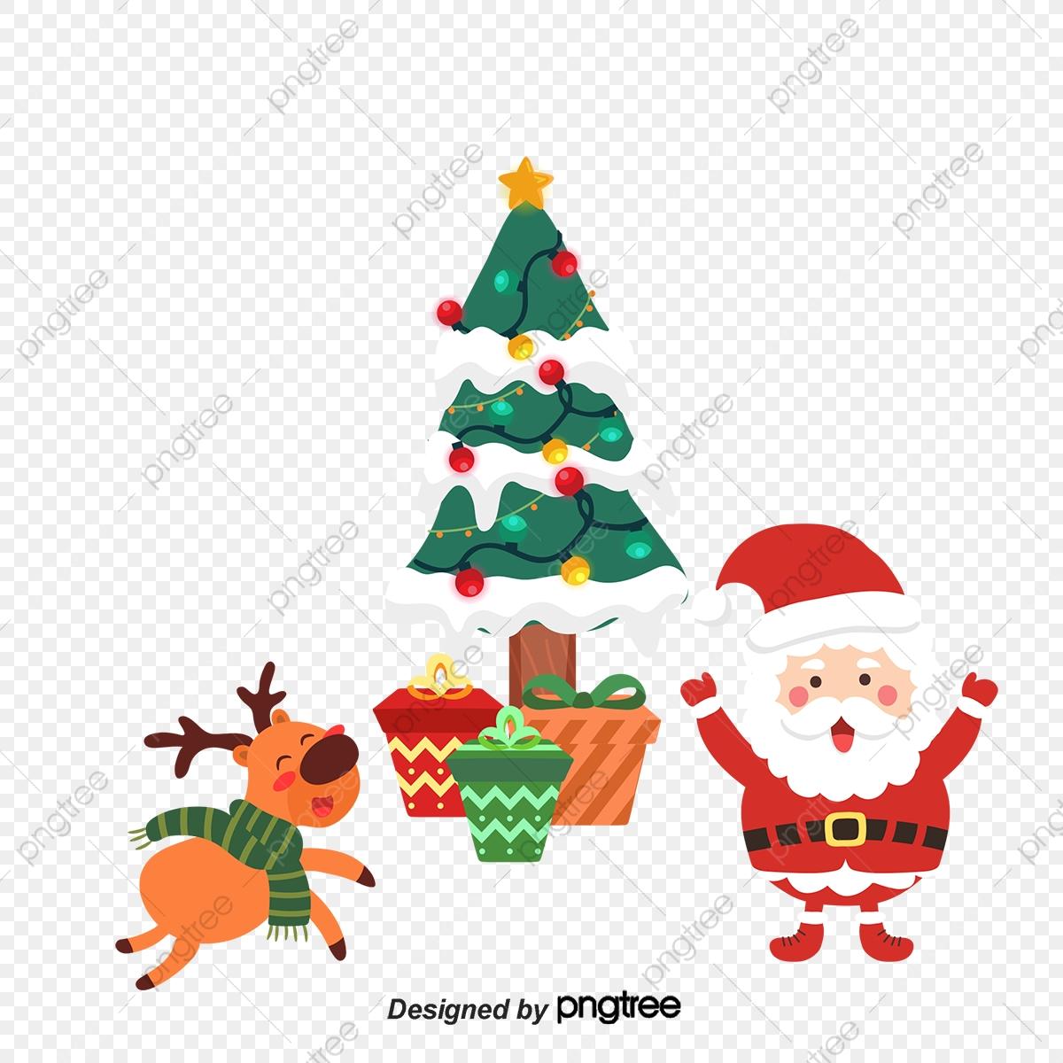 Un Sapin De Noël Hiver Animal Arbre De Noël Fichier Png