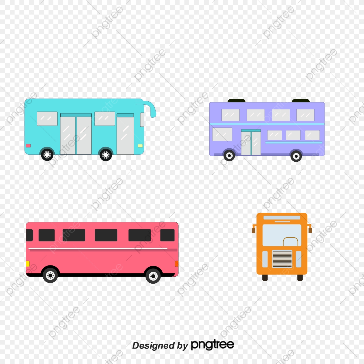 - Colour Cartoon Bus, Vehicle, Bus, Cartoon PNG And Vector With