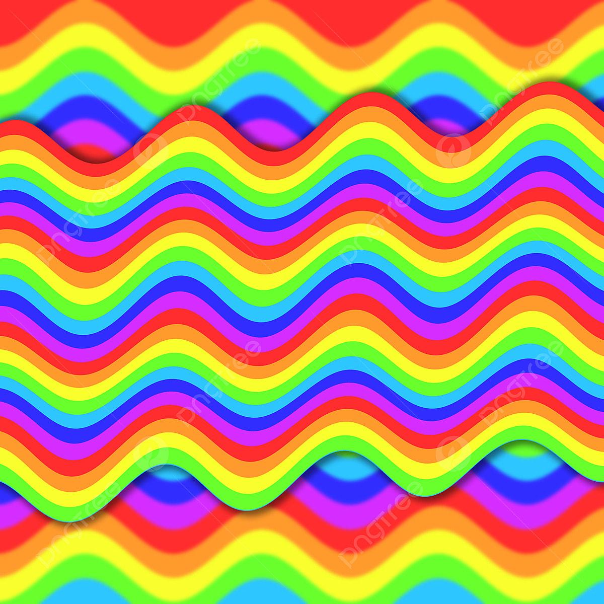 المموج قوس قزح عنصر الخلفية التوضيح متعدد الألوان قوس قزح هامش Png وملف Psd للتحميل مجانا