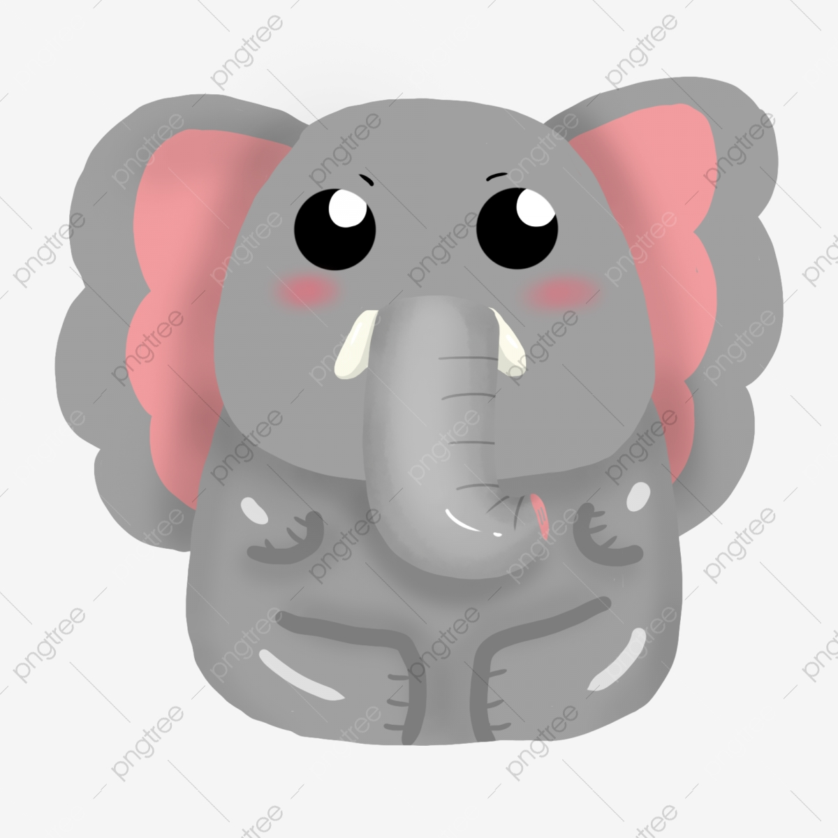 Cute Cartoon Elephant Vector Design Material Cute Cartoon Elephant Png Transparent Clipart Image And Psd File For Free Download