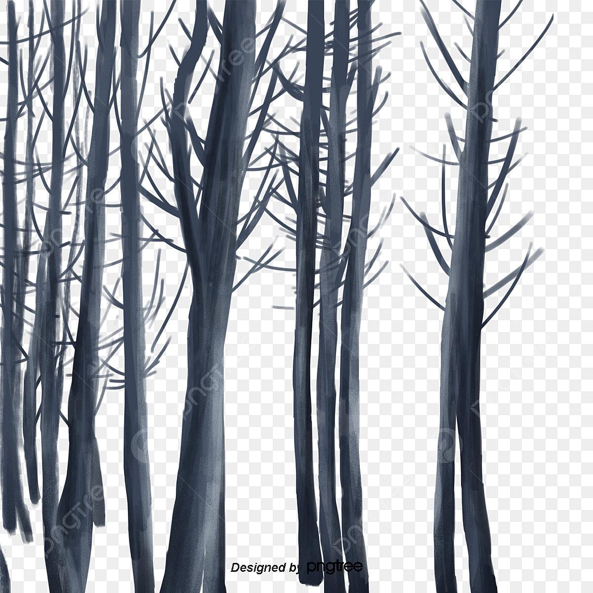 As Arvores De Galhos Secos De Inverno Elementos No Inverno