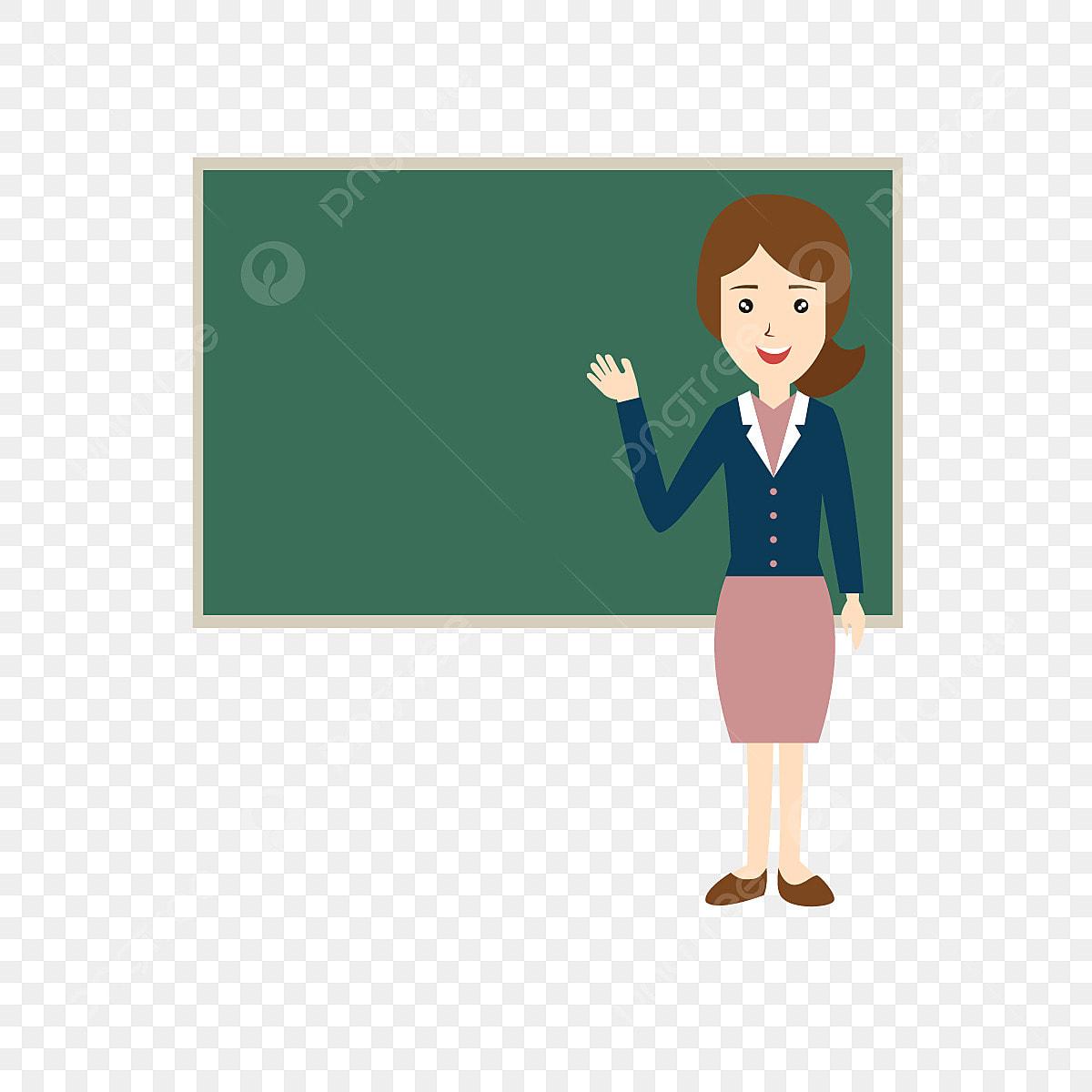 Wanita Podium Guru Mengajar El Kartun Unsur Unsur Kartun
