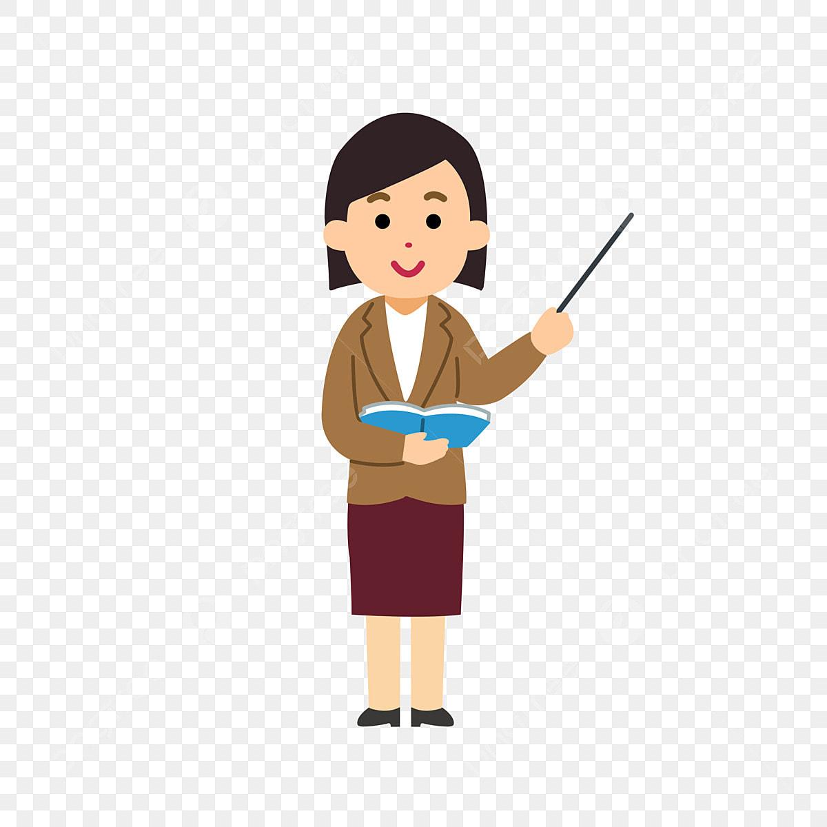 Kartun Guru Guru Wanita Kartun Guru Wanita Tangan Dicat