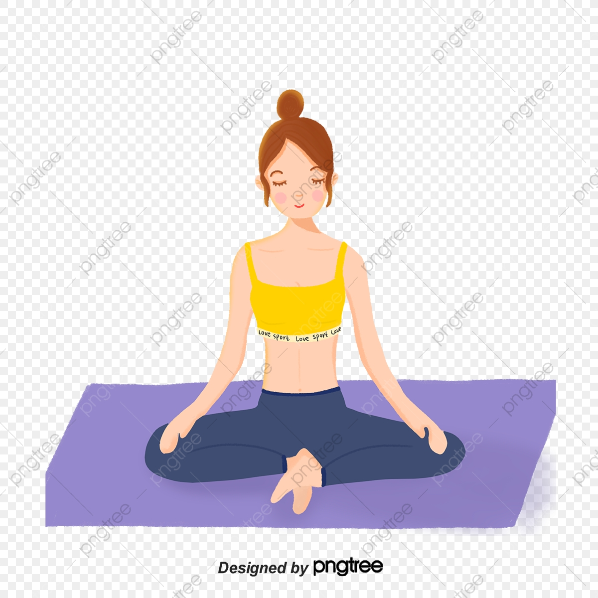 Female Yoga Exercise Yoga Day Female Sit In Meditation Yoga Png Transparent Clipart Image And Psd File For Free Download