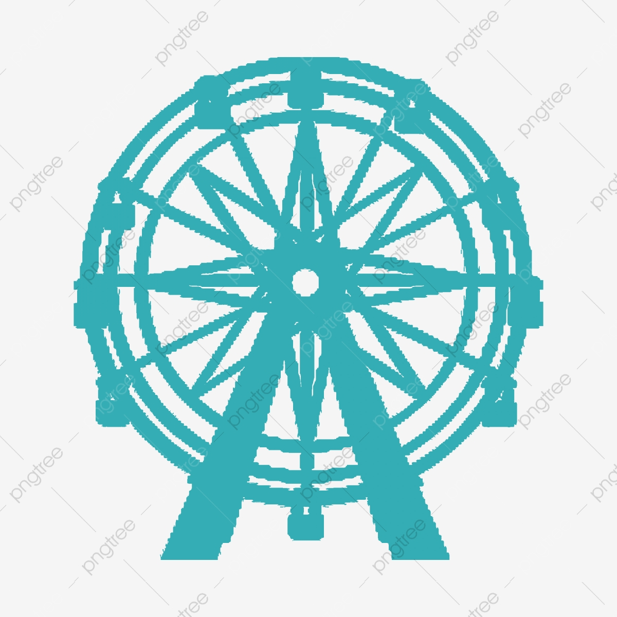 Ferris Wheel Silhouette Background Vector Material Silhouette Ferris Wheel City Png Transparent Clipart Image And Psd File For Free Download