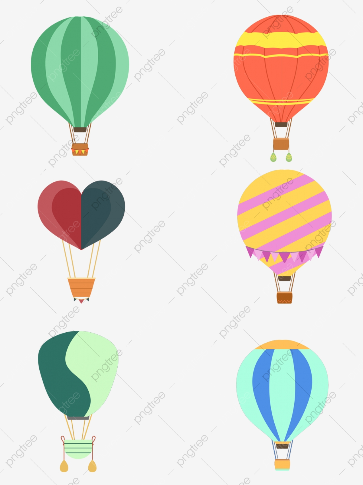 Flat Hot Air Balloon Vector Hot Air Balloon Hot Air Balloon Hot Air Balloon Illustration Png Transparent Clipart Image And Psd File For Free Download