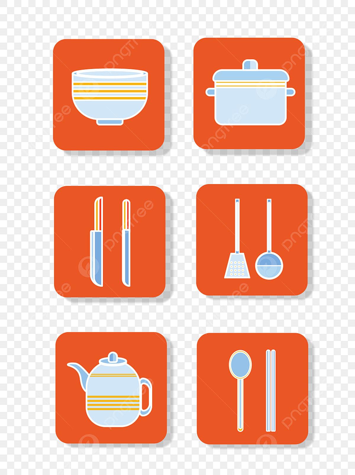 Icono De Cocina Icono De Cubiertos Icono Plano Diseno De Iconos