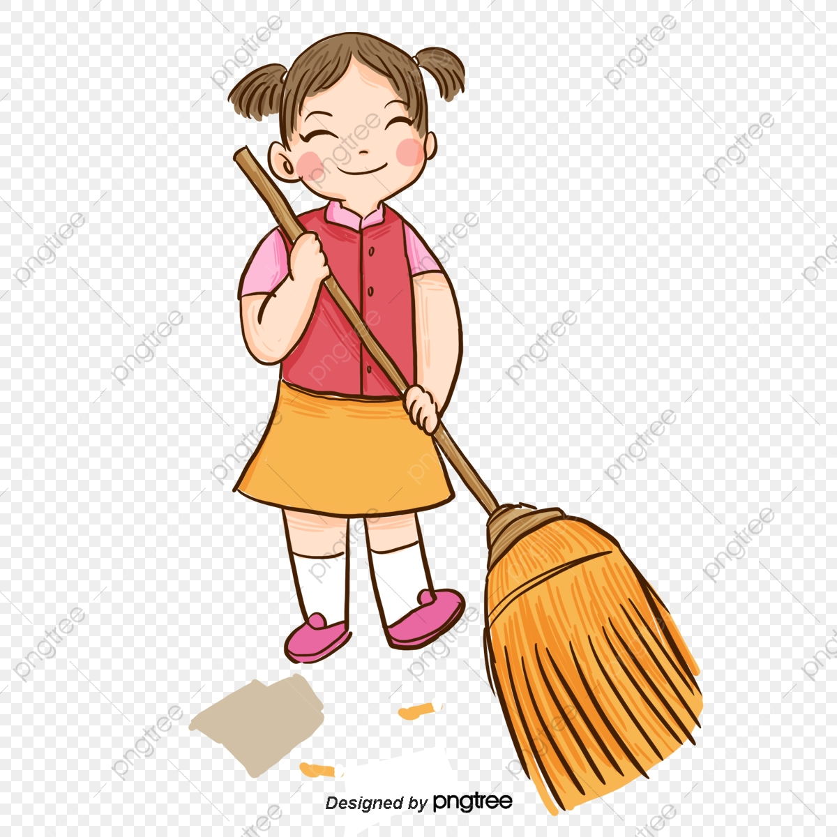 girls volunteer sweep the floor protect the environment garbage girl png transparent clipart image and psd file for free download https pngtree com freepng girls volunteer sweep the floor 4288438 html