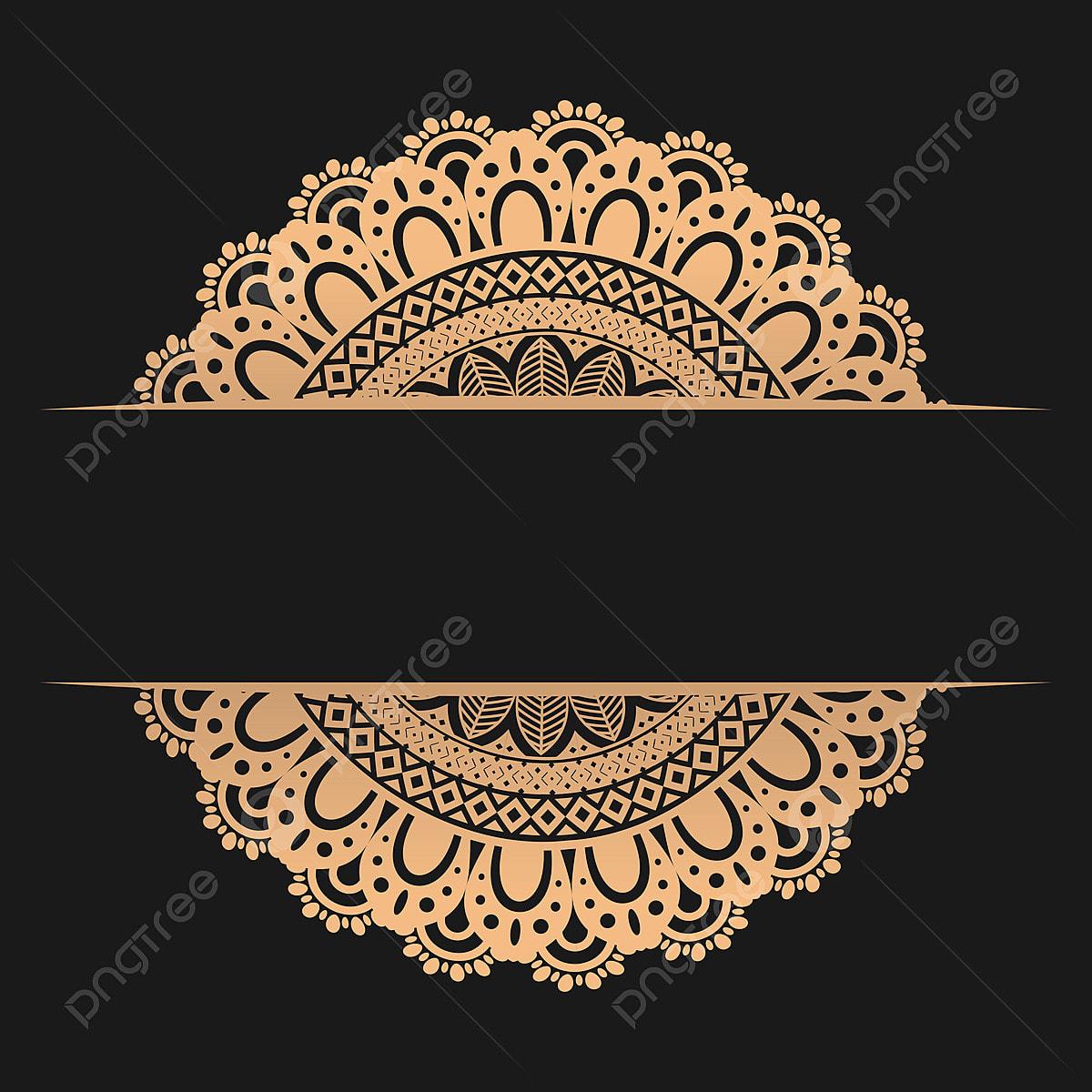 Desenho De Mandala Dourada Abstract Arabesco Arabe Png E Vetor
