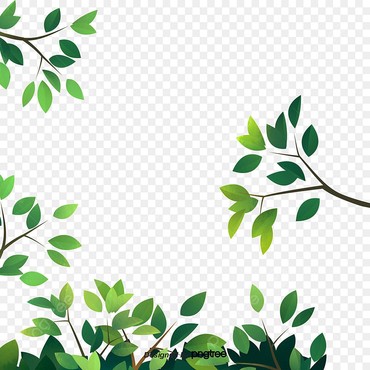 زخرفة الورقة الخضراء جزء ورقة الشجر منظر طبيعى Png وملف Psd للتحميل مجانا