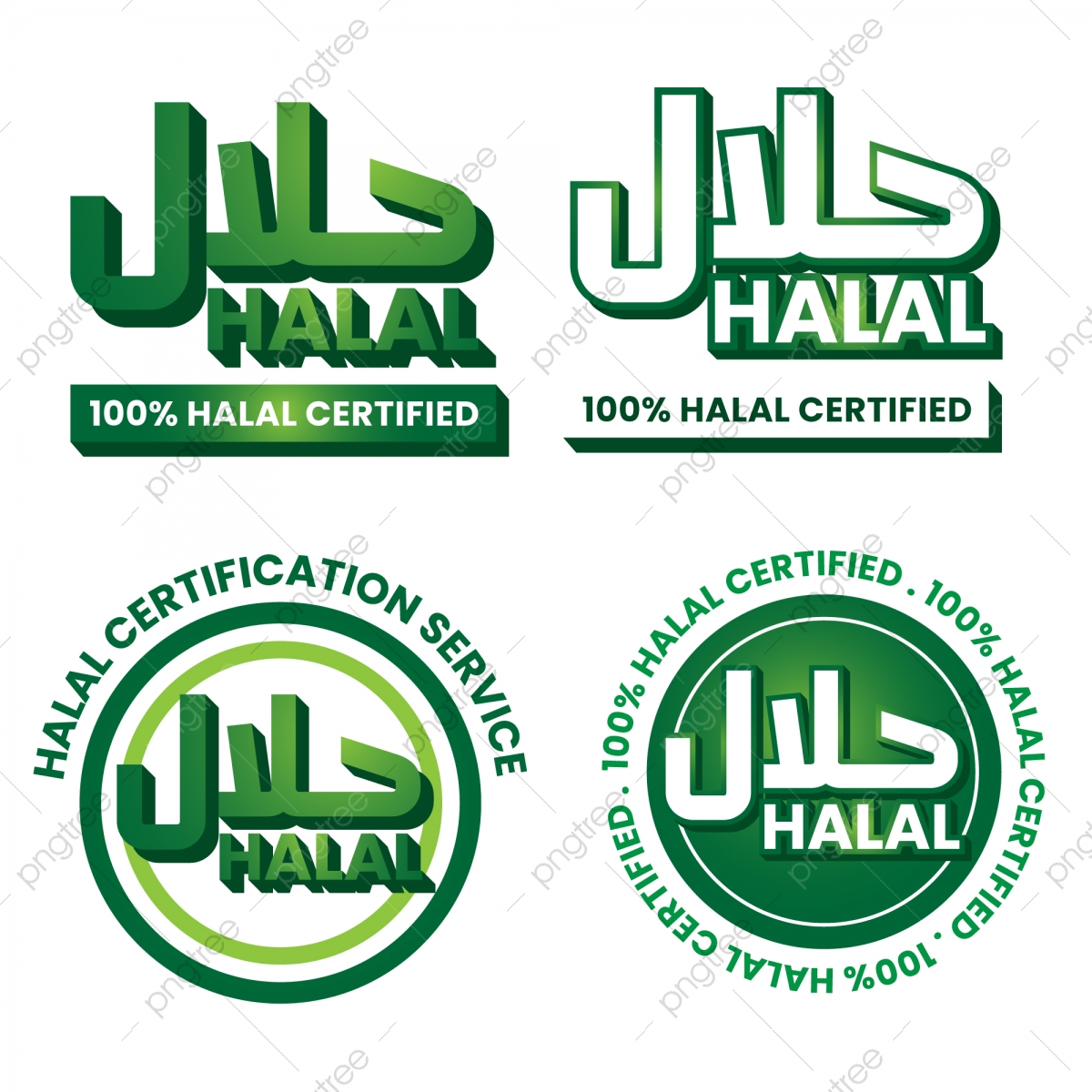 Halal Logo Collection Halal Label Muslim Halal Product Png And Vector With Transparent Background For Free Download