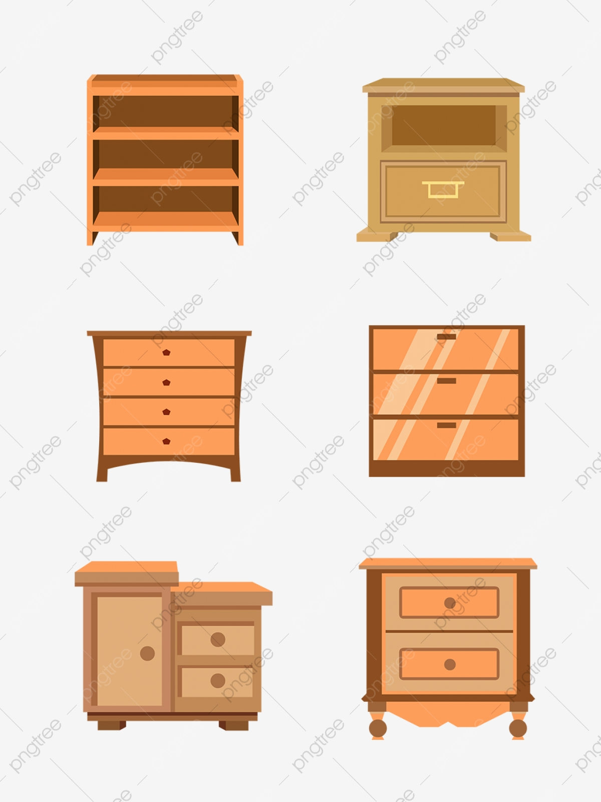 Hand Drawn Cartoon Furniture Vector Small Cabinet Hand Painted Furniture Cartoon Furniture Small Cabinets Png And Vector With Transparent Background For Free Download