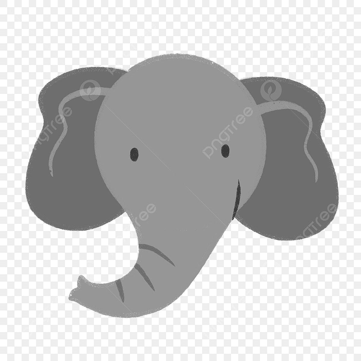 Lukisan Tangan Gajah El Muka Haiwan Binatang Kartun
